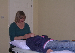 Carolyn Potter Reiki Master at work